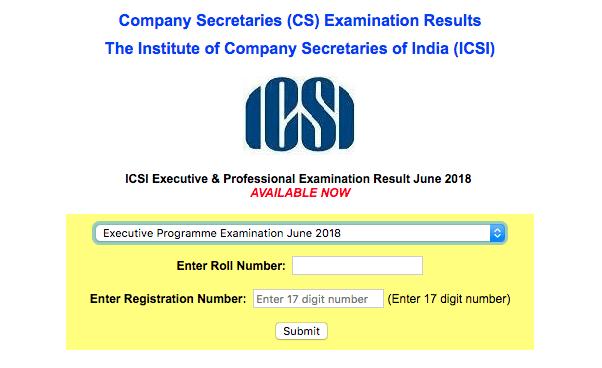 CS Executive Result June 2018
