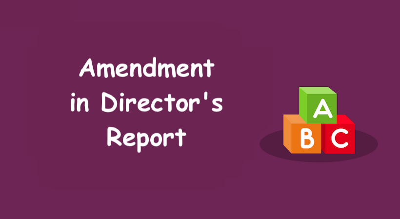 Amendment in Director's Report