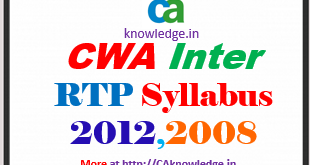 CWA Inter Revision Test Papers