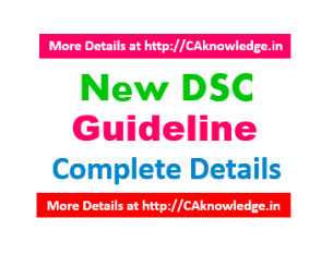 New DSC Guideline CAknowledge.in