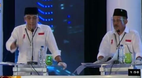Foto tangkapan layar gelaran debat pilkada Surabaya