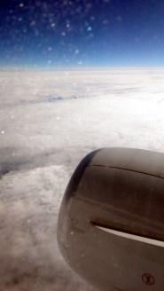 Schönes wetter nur über den Wolken