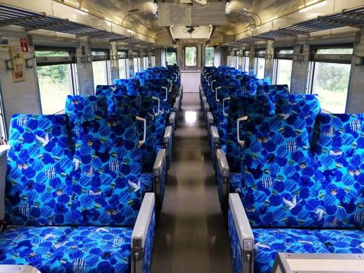 花咲線キハ54車内 貸切