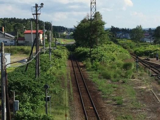 名寄陸橋から旧名寄本線