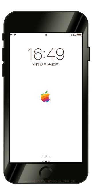 iPhone X/8/8Plus壁紙「Apple Mark」
