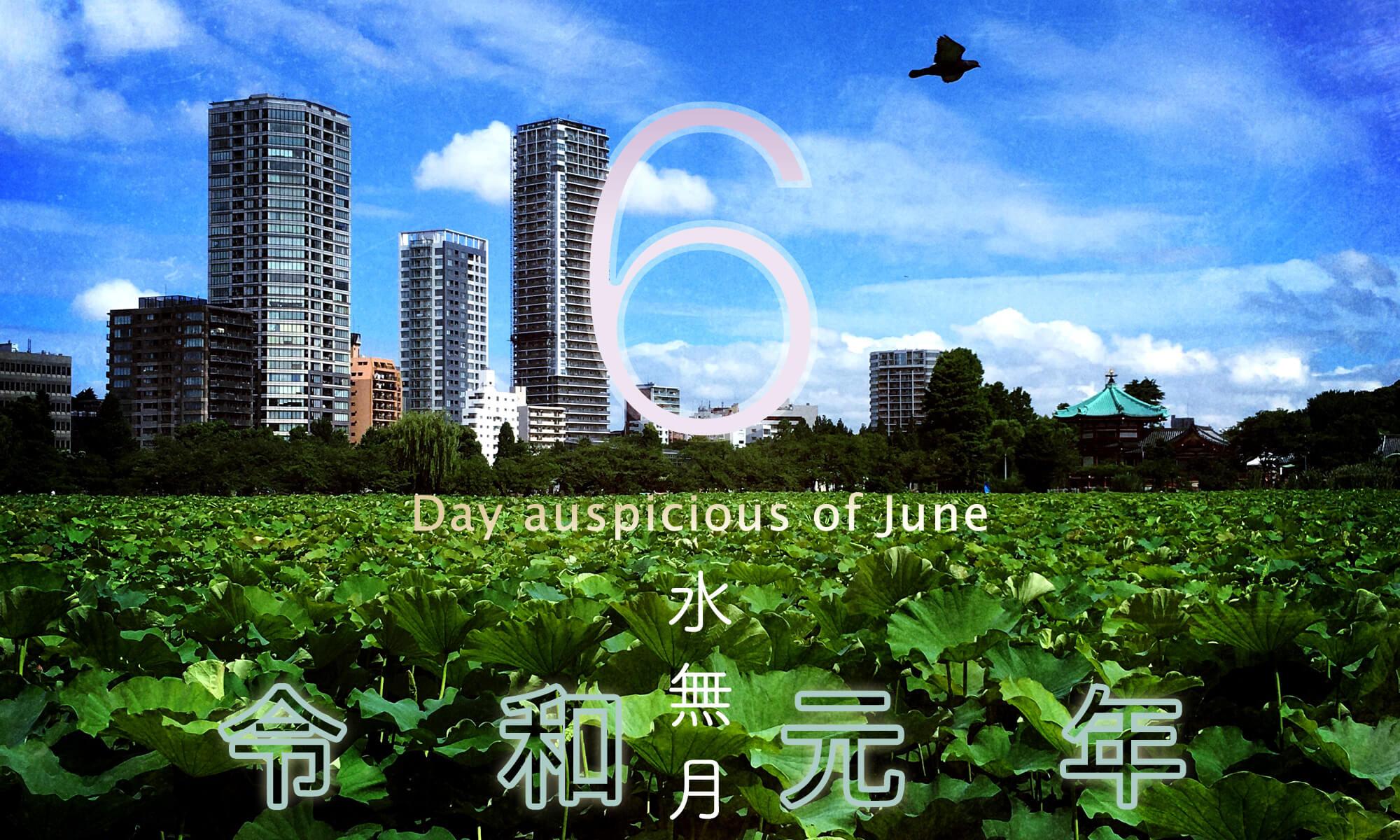 令和元年・2019年6月のいい日悪い日・縁起のいい日、お日取り・暦