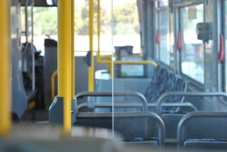 Route 22 was one of the major routes overhauled in 2012. On this day, the bus is empty between stops.