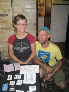 Elly and Joe. Image via ##http://www.bikeprovo.org/reporting-from-the-bike-brunch-tour/##Bike Provo##