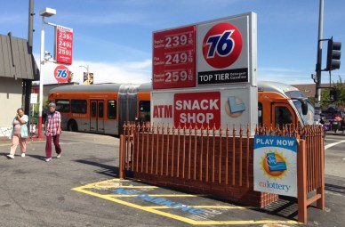 Gas prices today are as low as they have been in years. There is a downside to cheap gas. Photo: Joe Linton/Streetsblog L.A.