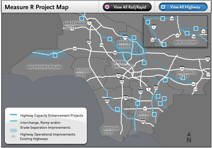 SCAG wants Measure R highway expansion projects, among others, grandfathered past new CEQA rules
