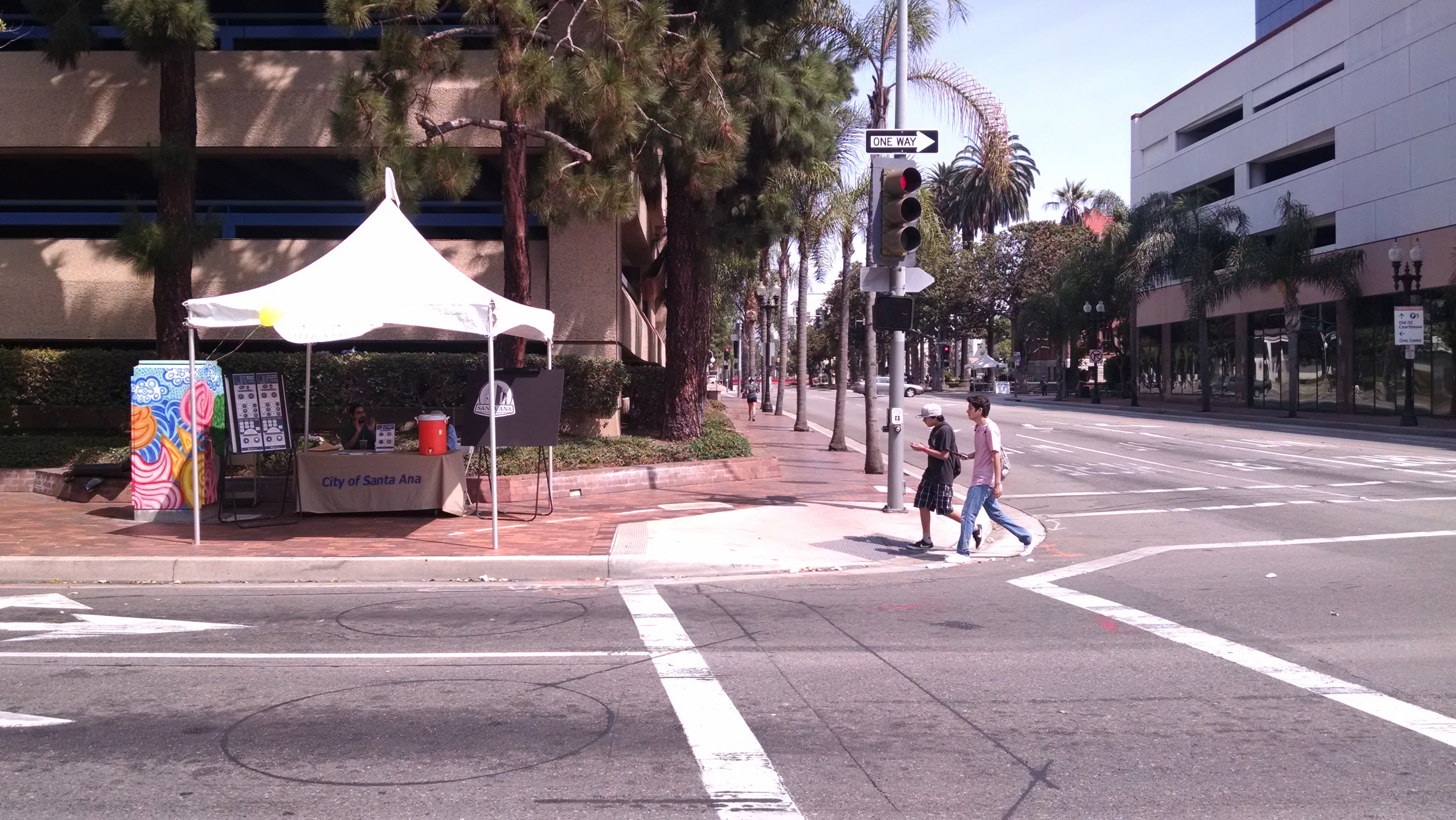 Santa Ana's Planning and Building Agency's booth on Fifth Street and Broadway. Photo by Kristopher Fortin.