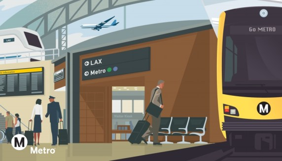This week Cal - including $40M for L.A. Metro's rail connection with LAX airport. Image via Metro
