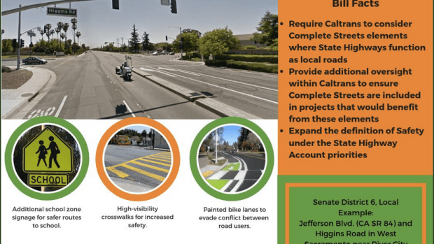 """Despite """"Farcical"""" Caltrans Cost Estimate, Complete Streets Bill Moves to Suspense File, as Expected"""