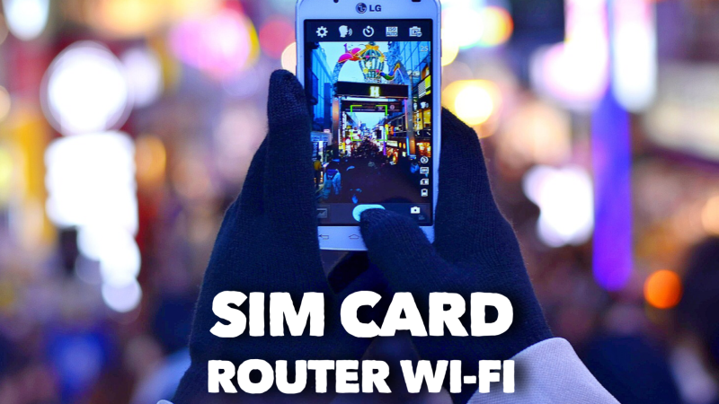 SIM CARD MOBILE E WI-FI  ROUTER IN GIAPPONE