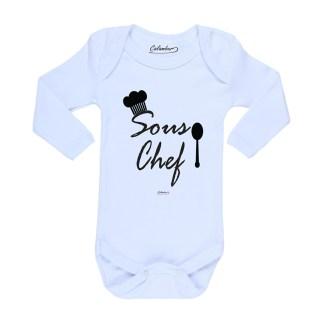 Ropa Bebe Body Calambur 100% algodón Moda Infantil Pilucho Sous Chef