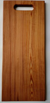 Heart pine. Approx. 8.5 inches wide x 20 inches long