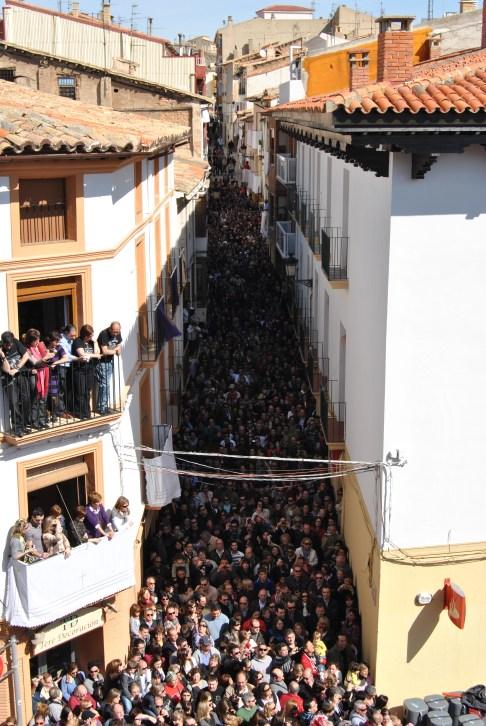Calle San Roque durante la Rompida de la Hora