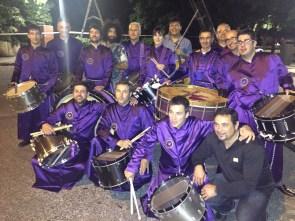 Grupo Tambores de Calanda con violinista Ara Malikian y su grupo en Estudios Buñuel RTVE