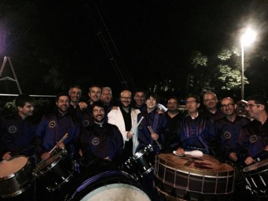 Grupo de Tambores de Calanda con Santiago Segura
