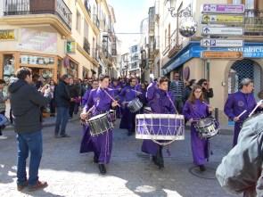 Tambores de Calanda por las calles de Baena - Foto de Carlos Palos
