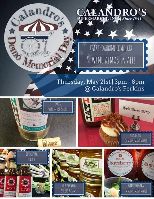 #DemoMemorialDay Tasting Event: Thurs., 5/21 | 3p-8p | Perkins