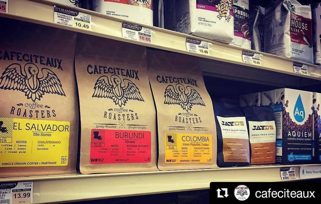 Fresh @cafeciteaux & @hugjayd #coffee on the shelf y'all! #freshfreshfresh #ohsofresh #supafresh #local #wakeupyo #grocery…