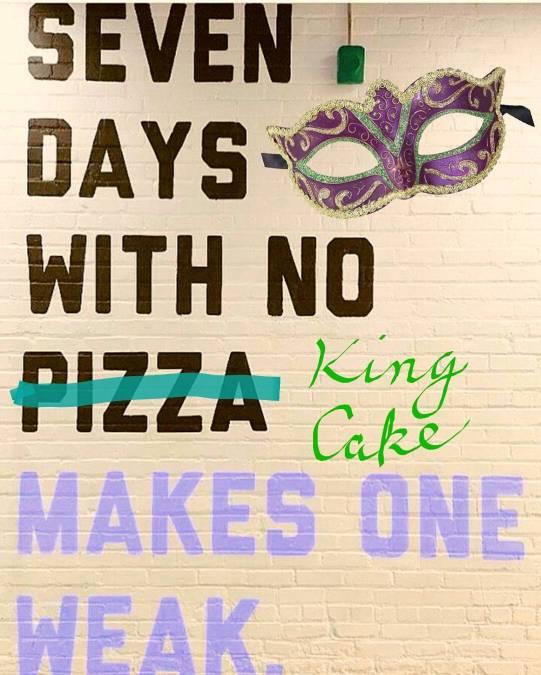 Yeah. #bestrong 💪 #notweak #brstrong #kingcake #mardigras #bakery (H/T @eatingnola)