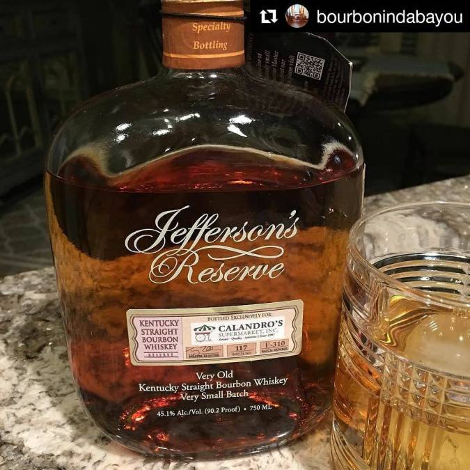 There it is. #jeffersons in da bayou with @bourbonindabayou. Whatcha think, sir? #jeffersonsreserve #bourbon #whiskey…