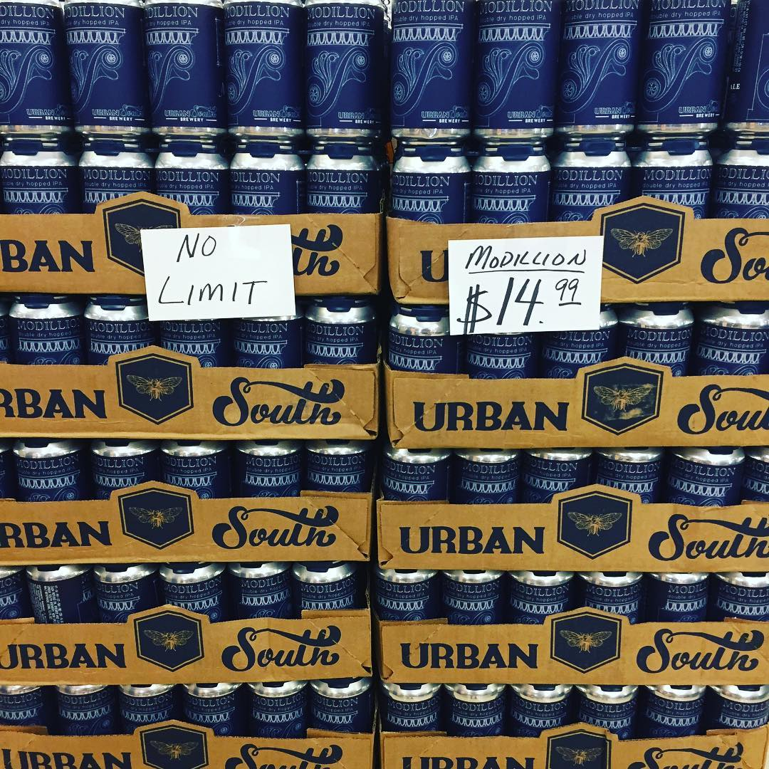 We still have plenty of @urbansouthbeer Modillion left at our Perkins Rd location! We are…