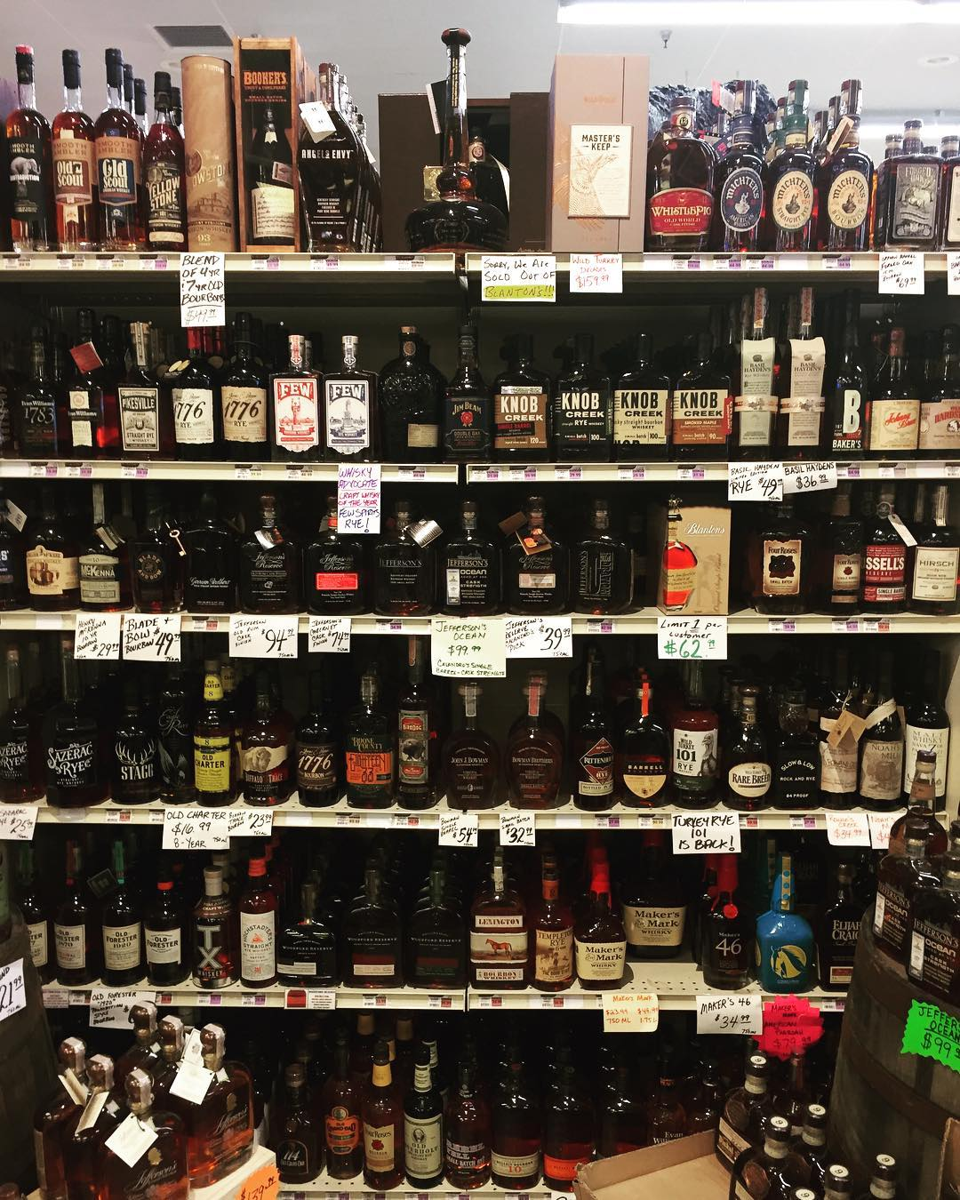 I spy @blantons_bourbon … Perkins Rd location! (We can not hold product for anyone) #giddyup…