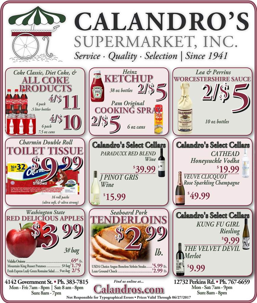 Amazing Weekly Deals @ Calandro's this week (06/22)!