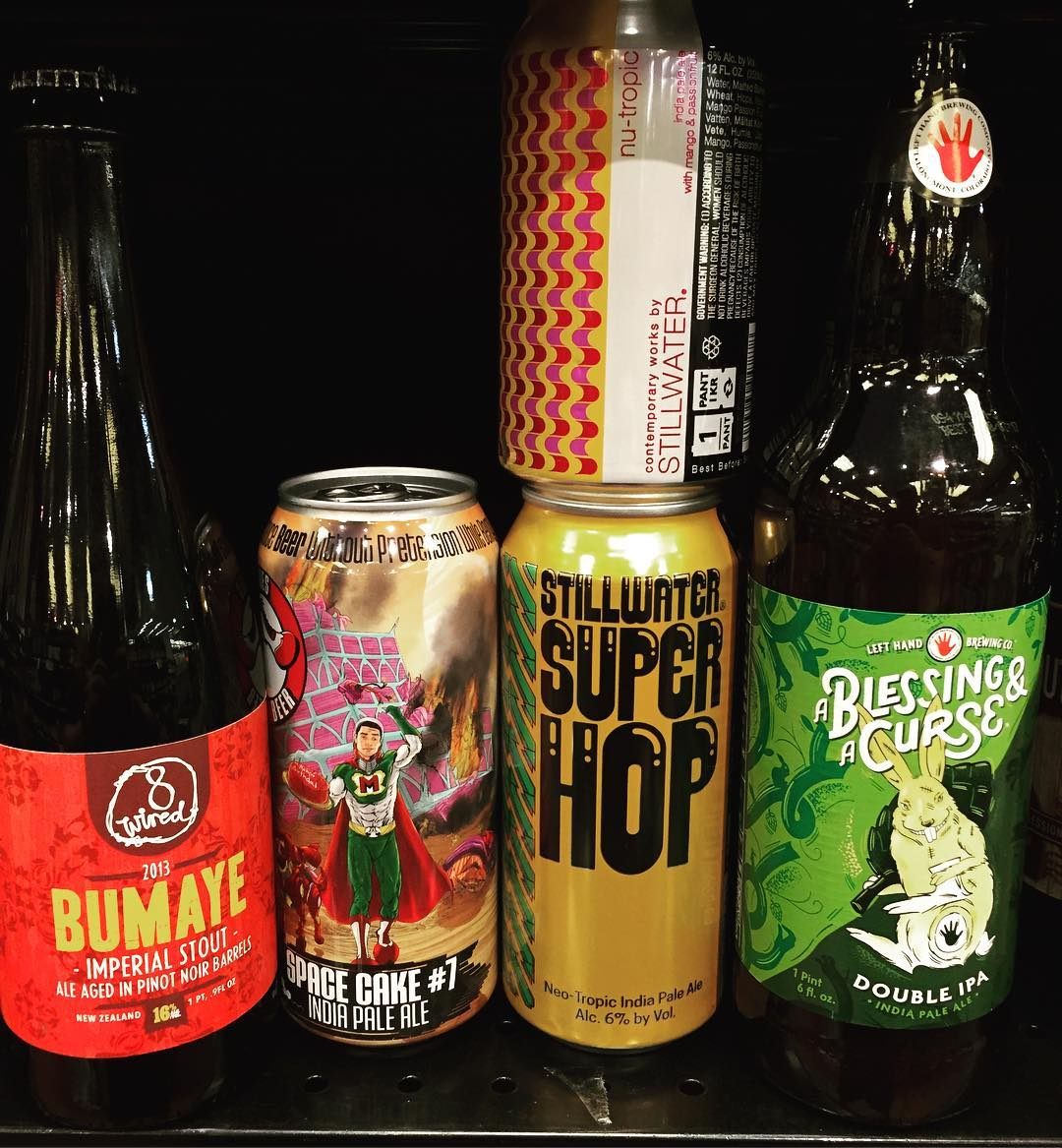 New brews in stock at our Perkins Rd location today! @clown_shoes_beer @stillwater_artisanal @lefthandbrewing #freshhops #beer…
