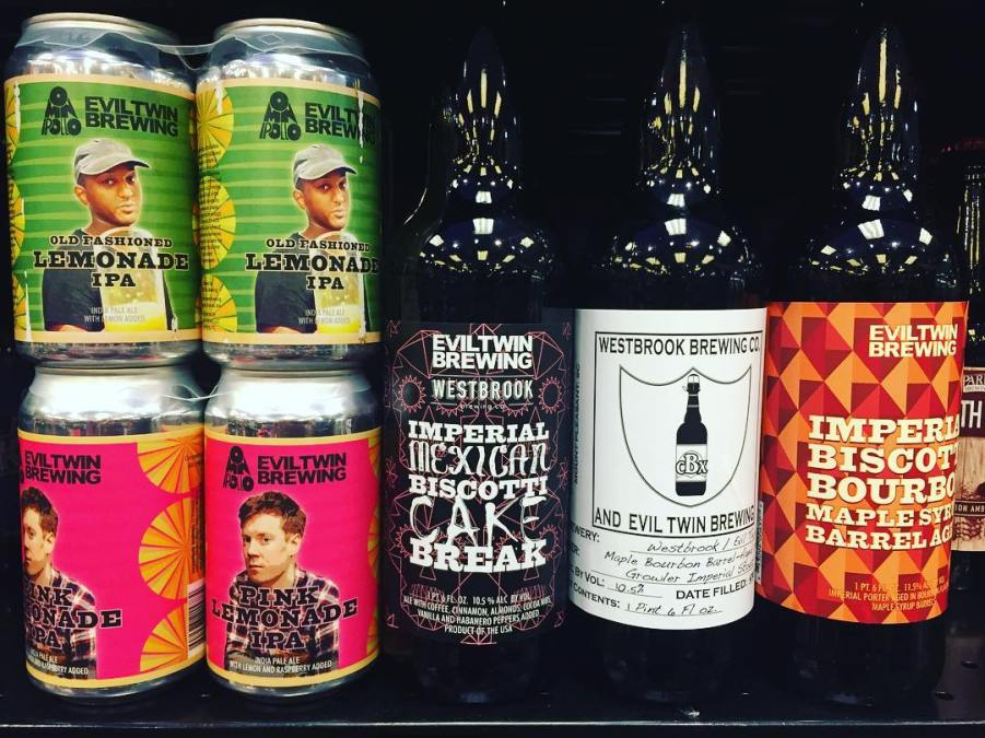 New brews available at our Perkins Rd location! @eviltwinbrewing @westbrookbrewingco @omnipollo #whalezbro #cases #mexicake #beer…