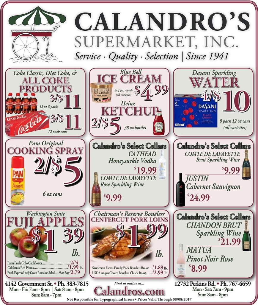 Amazing Weekly Deals @ Calandro's this week (08/03)!