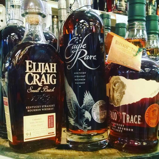 All the barrel picks for your #LSUFootball needs!! @buffalotrace @eaglerarelife @elijahcraig #singlebarrel #barrelpicks #barrellife #strongwater…
