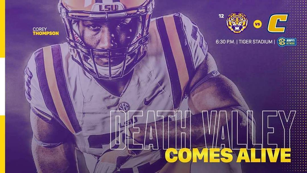 """And the chance of rain is…______!"" #saturdaynightindeathvalley #lsuvschattanooga #geauxtigers #beatthescrappymocs #events #630pm #secnetwork"