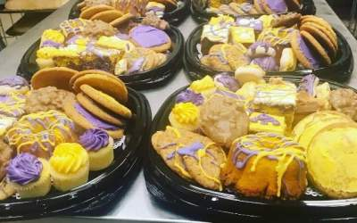 Let us get you ready for #lsugameday. Visit our bakery. #calandrosmkt #bakery #lsufootball #geauxtigers