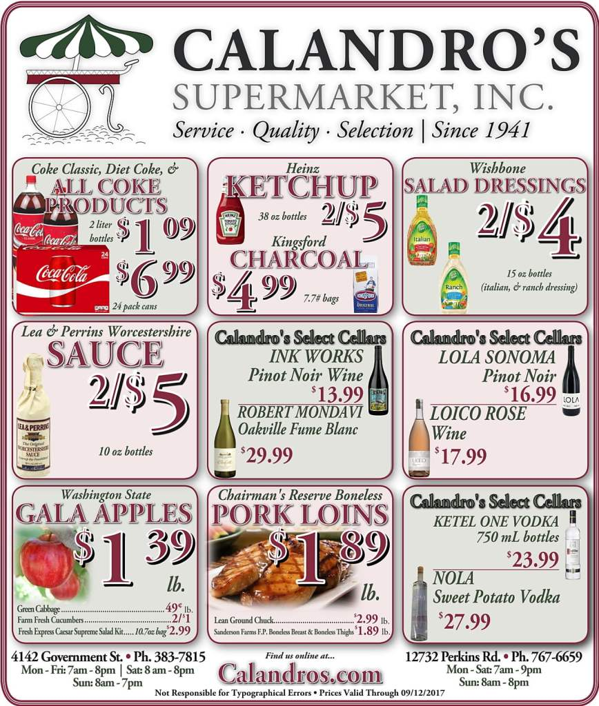 Amazing Weekly Deals @ Calandro's this week (09/07)!
