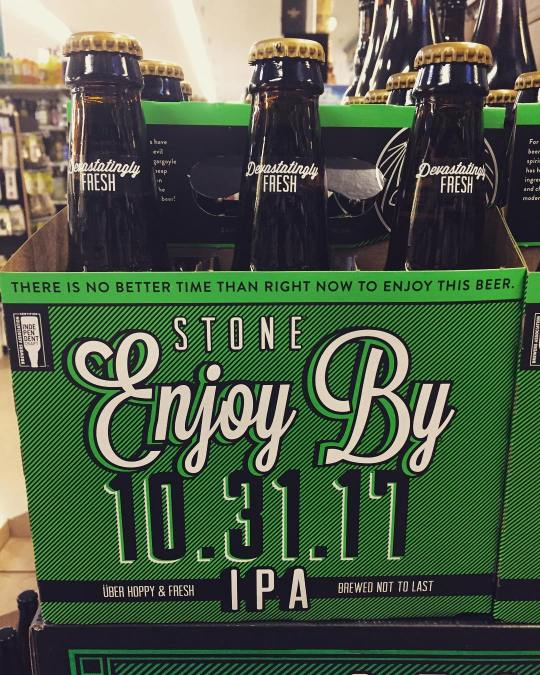 @stonebrewing Enjoy By ???? ???? is now available at our Perkins Rd location! #freshhops #beer…