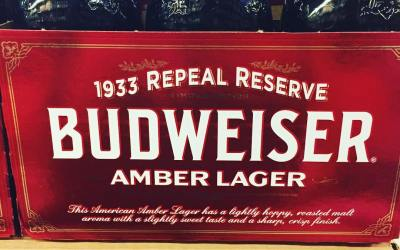 @budweiser Limited Edition 1933 Repeal Reserve Amber Lager is now available at our Perkins Rd…