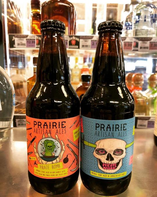 Two new brews available from @prairieales at our Perkins Rd location! Both are stouts aged…