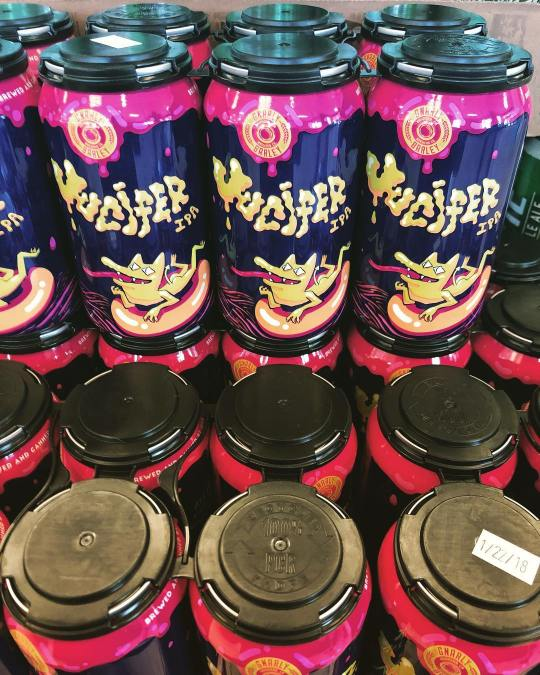 We just received super fresh @gnarlybarley Jucifer IPA canned 1/22 at our Perkins Rd location!…