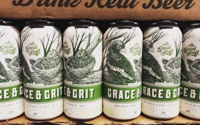 #Grace&Grit #DoubleIPA from @greatraftbeer just hit our Mid-City location! #DrinkLocal #Beer