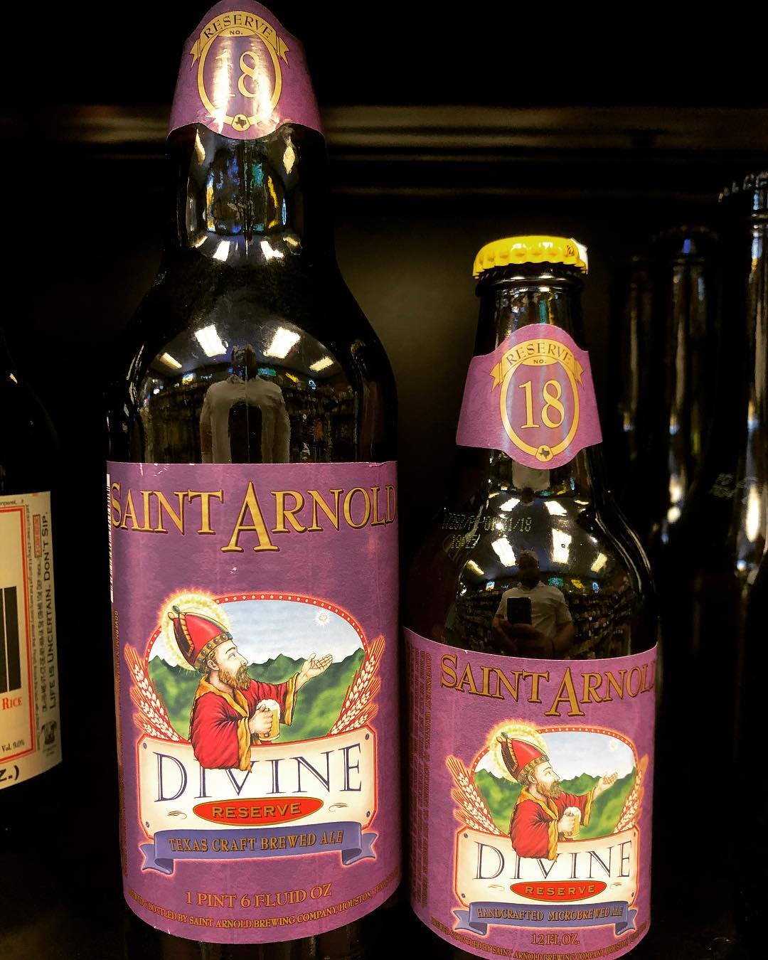 @saintarnoldbrewing Divine Reserve 18, Imperial Stout, is now available in limited quantities at our Perkins…