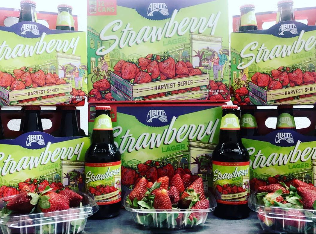 ????????????????????????????????????????Grab a six pack of @abitabeer Strawberry Lager and pair it with some fresh #LouisianaStrawberries…