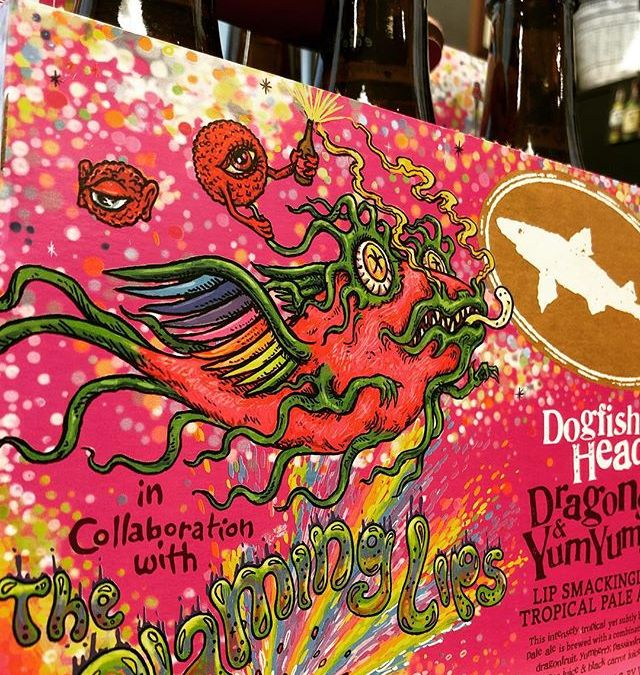 @dogfishhead in collaboration with @theflaminglips Dragons & Yum Yums, Pale Ale with dragonfruit, yum berry,…