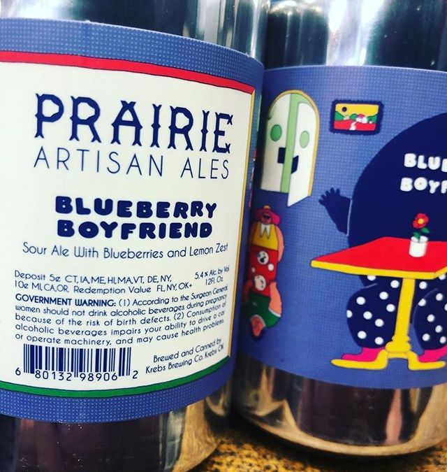 @prairieales Blueberry Boyfriend is now available at our Perkins Rd location! #beer #sourbeer #blueberry #lemonzest🍋…
