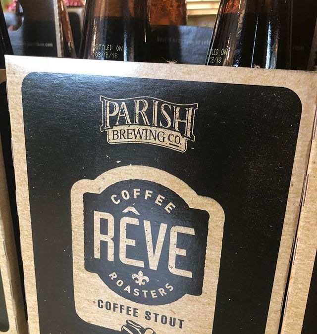 Fresh @parishbrewingco Rêve drop at our Perkins Rd location today! #beer #drinklocal #coffee #revecoffeeroasters #homegrown