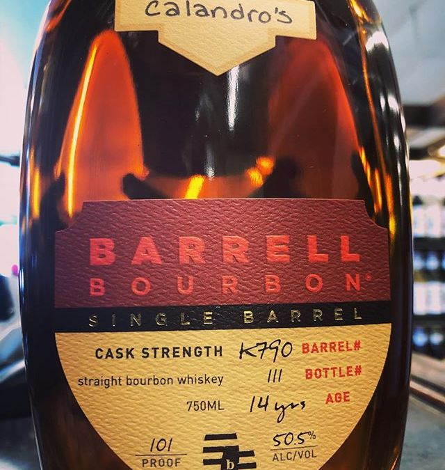 Our second hand selected @barrellbourbon has arrived at BOTH locations! This cask strength juice comes…