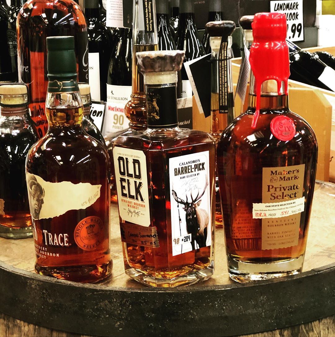 New today at our Perkins Rd location! We have 2 new barrel picks from @oldelkbourbon…